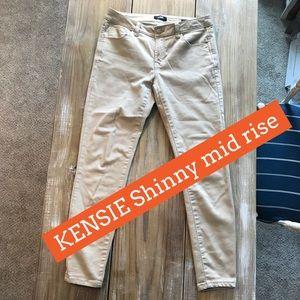 KENSIE skinny mid rise jeans